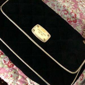 Michael Kors Black Velvet Bag ‼️BARELY USED‼️